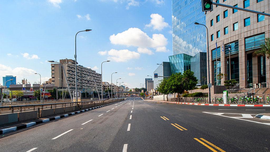 Roads Closed on Yom Kippur in Tel Aviv