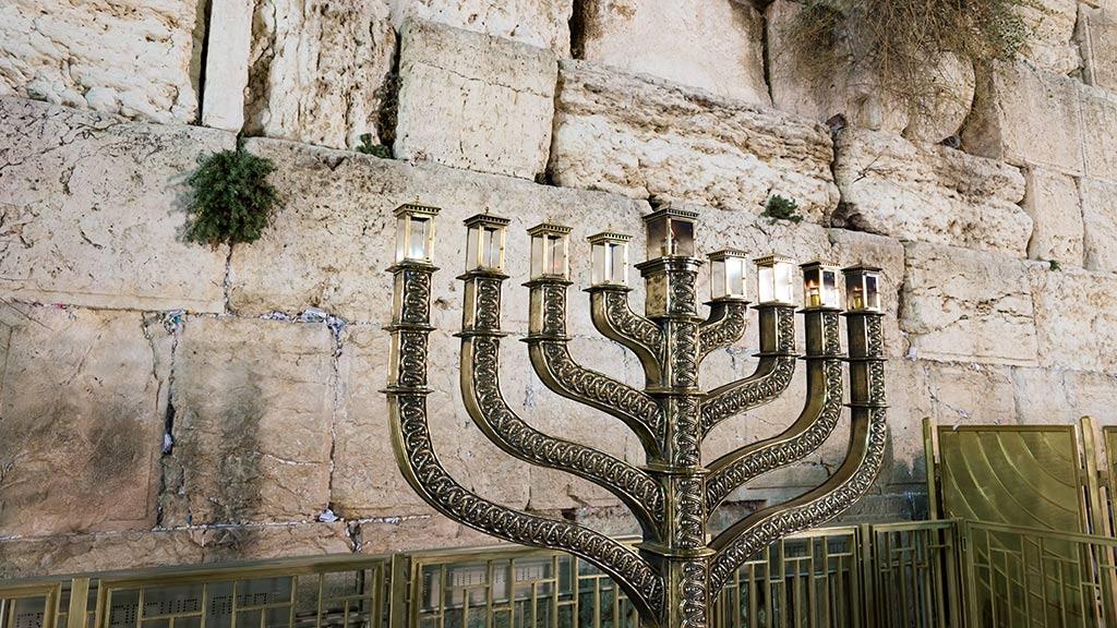 Menorah for Hanukkah in Jerusalem