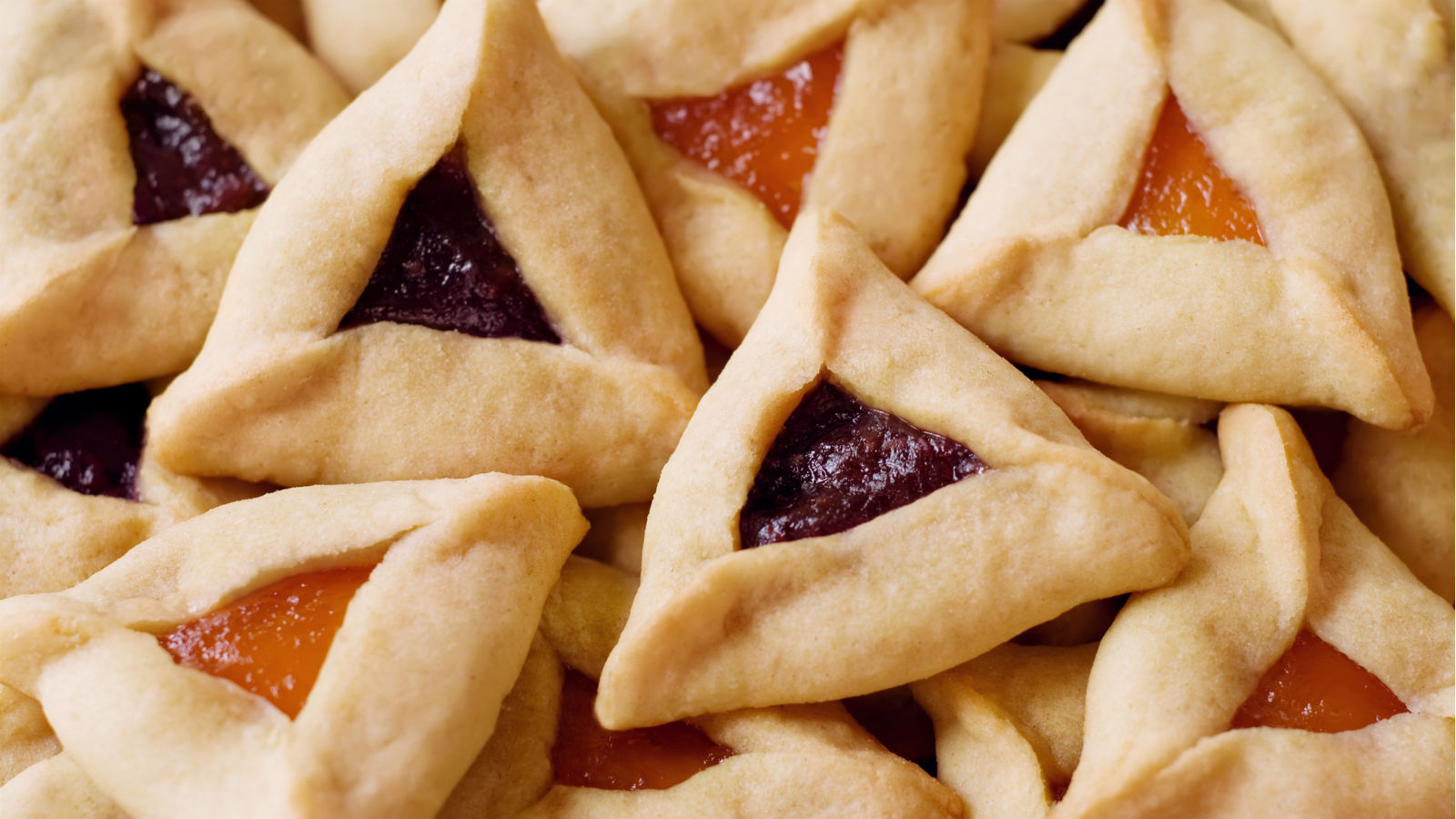 purim pastries filled with jelly