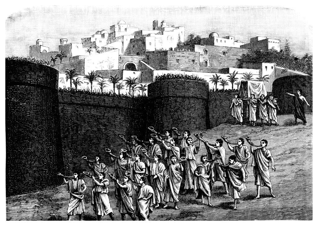 drawing of the old city Jerusalem