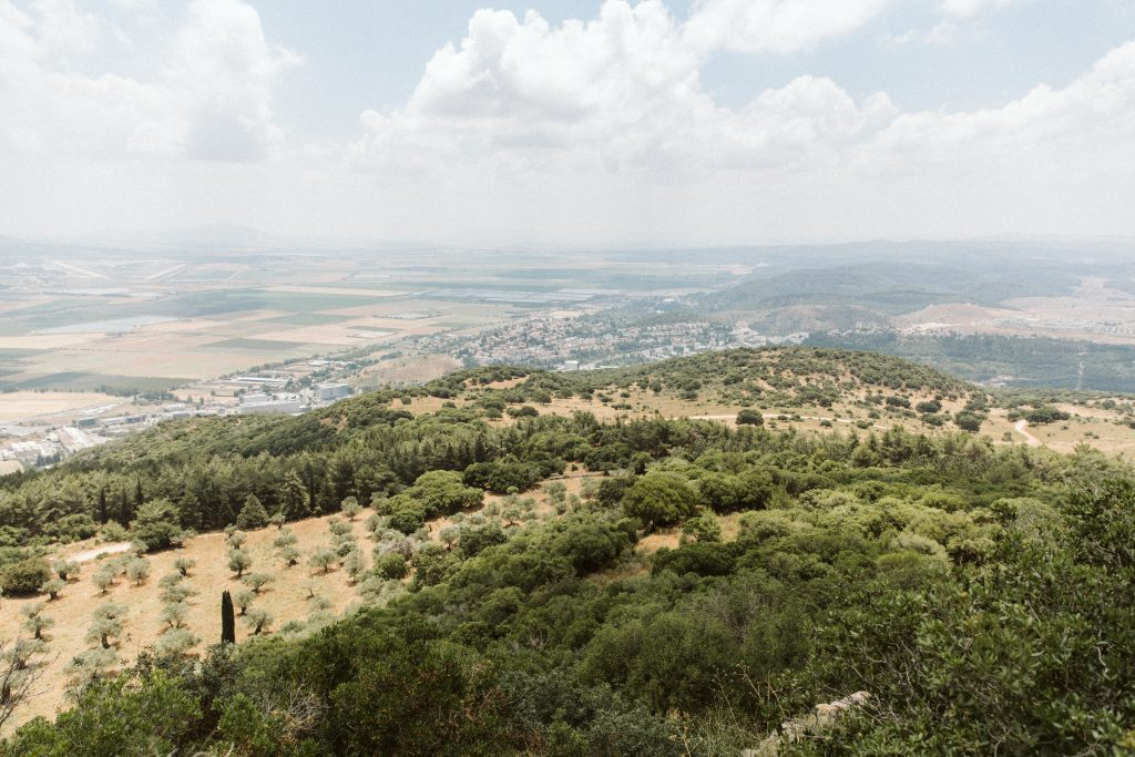 view of a valley in israel